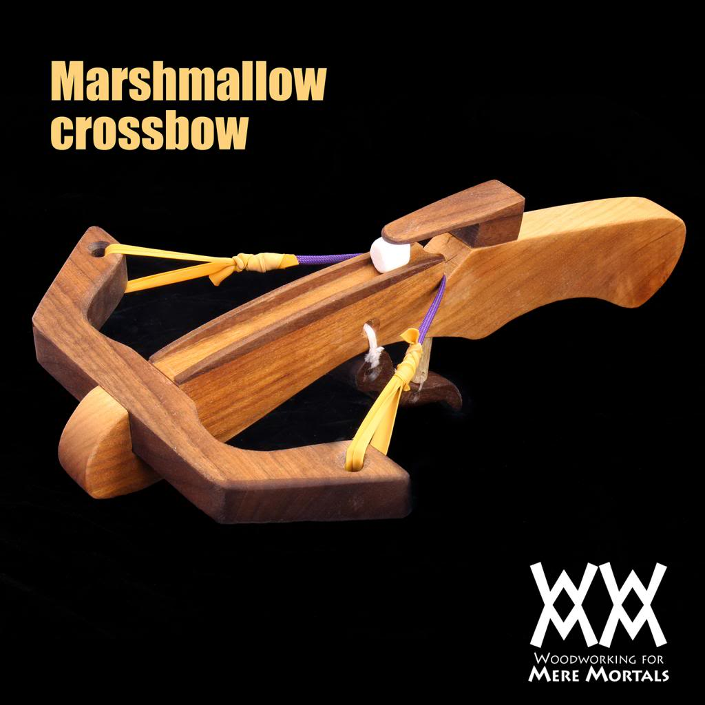 Make a marshmallow crossbow out of Wood