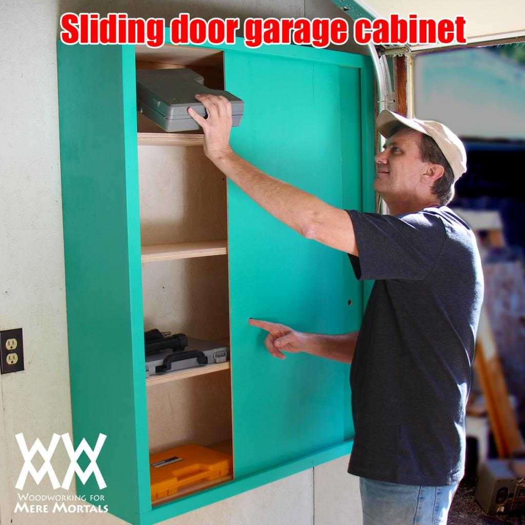 Sliding Door Garage Cabinet