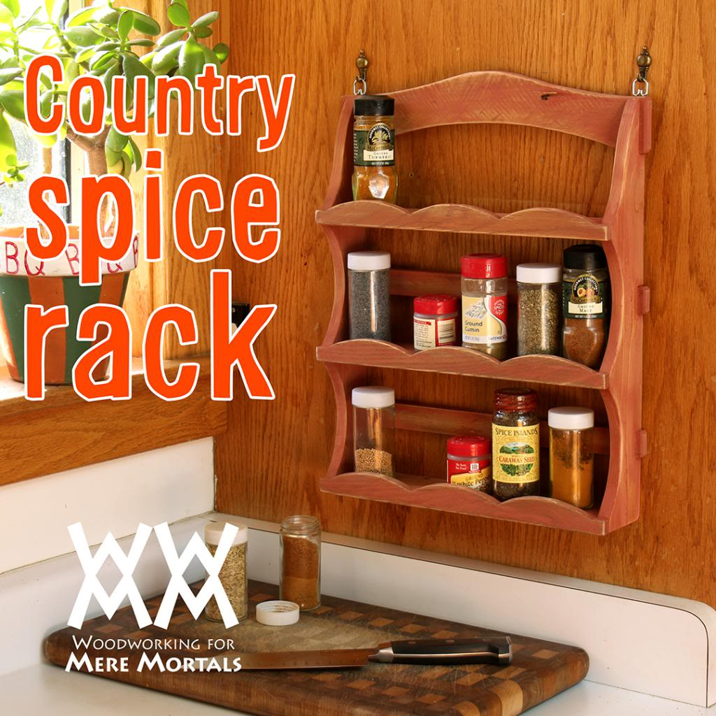 Country Charm Spice Rack