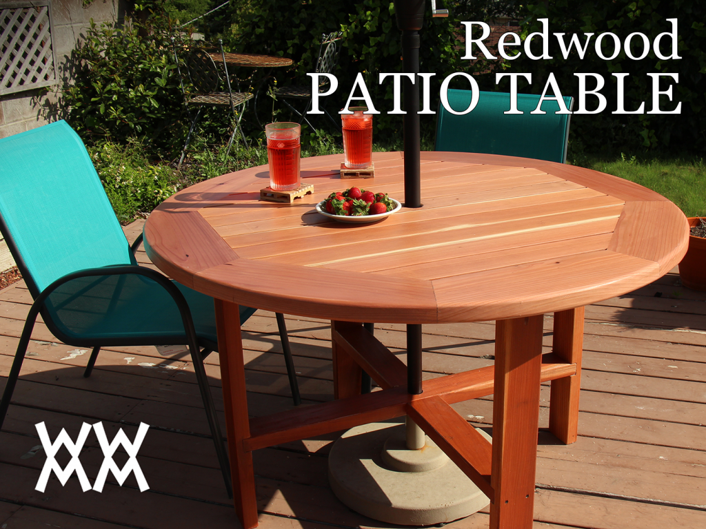 make a patio table | woodworking for mere mortals
