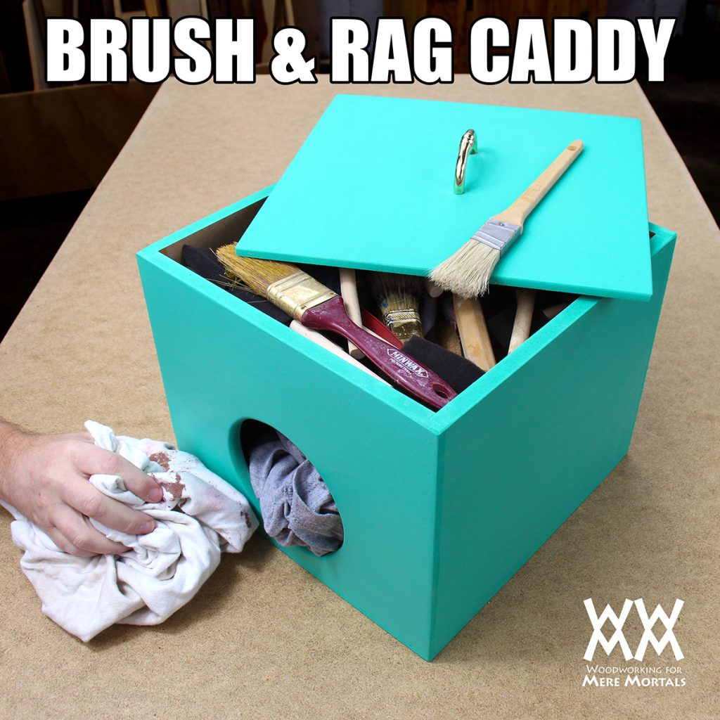 Storage Caddy for Brushes and Rags