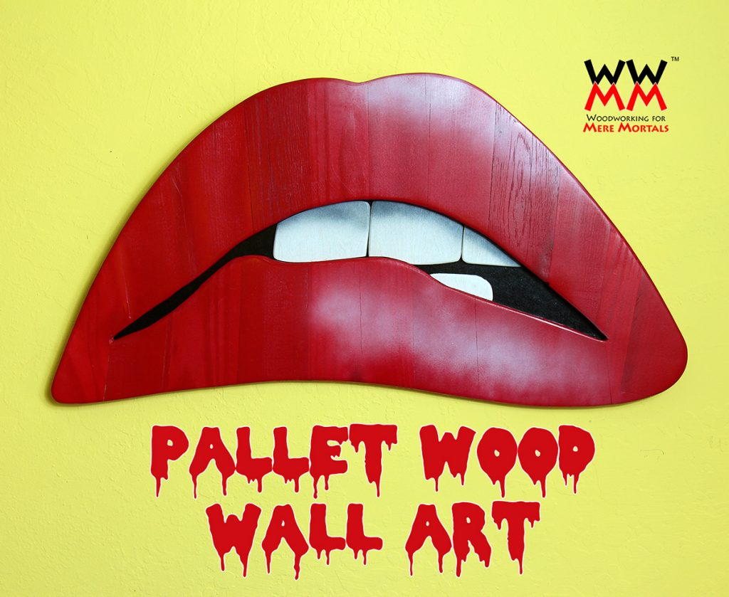 Rocky Horror Wall Art Made From Pallet Wood  | Woodworking