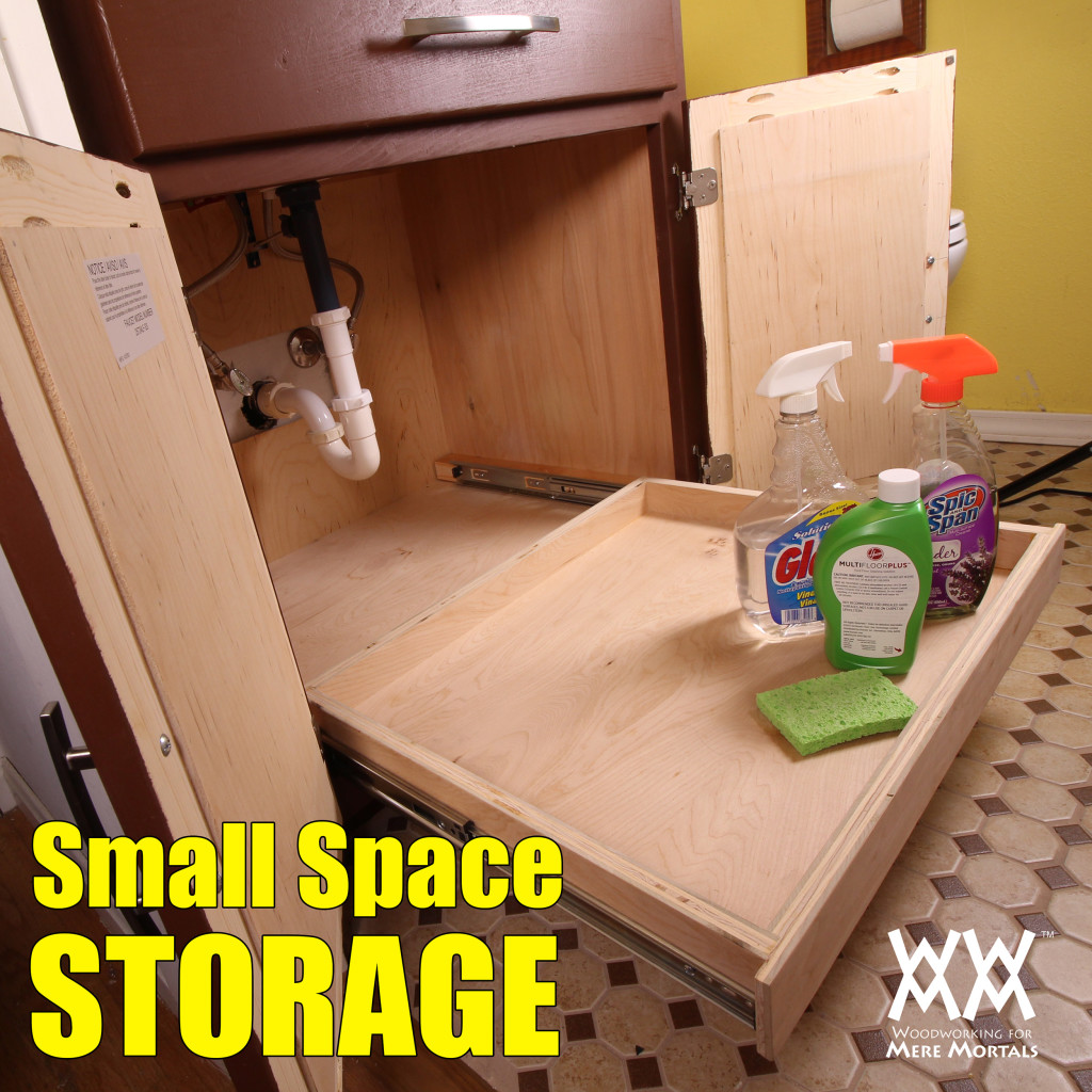 under sink storage how to build and install a full extension drawer woodworking for mere mortals. Black Bedroom Furniture Sets. Home Design Ideas