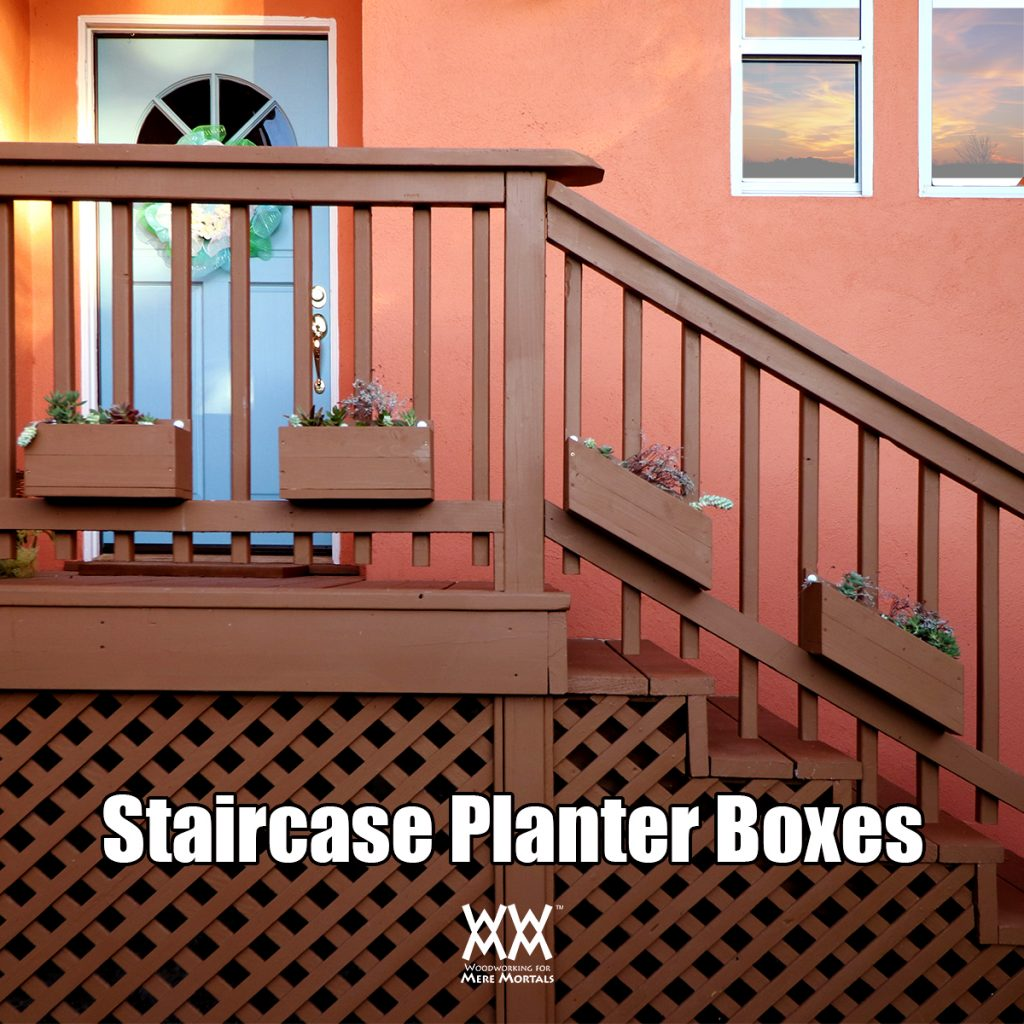 Planter bo for a staircase – Woodworking for Mere Mortals on post planters home depot, patio planters home depot, brick planters home depot, plant pots home depot, vertical garden home depot, window planters home depot, trellis planters home depot,