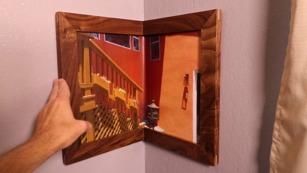 Wrap-Around Corner Picture Frame