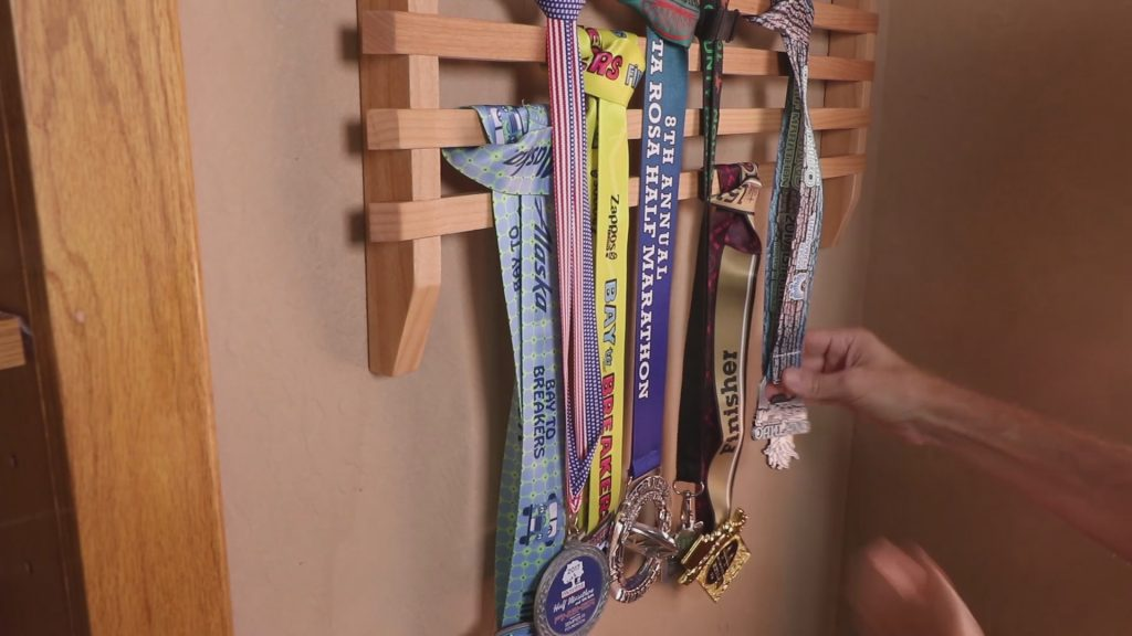 Running Medals Display Rack