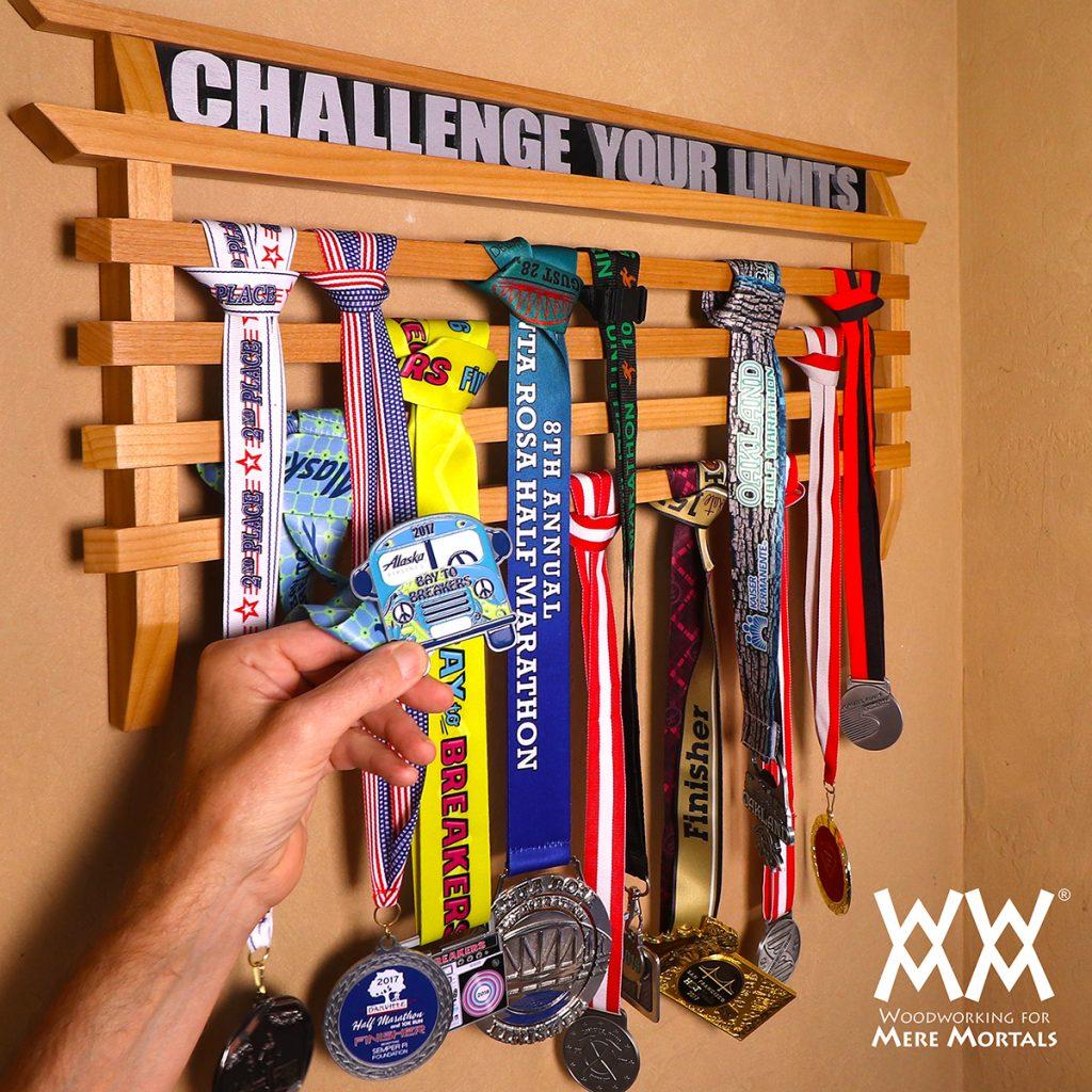 Running Medals Display Rack
