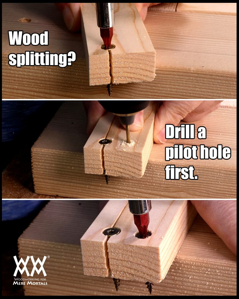 how to drive a screw (and not split the wood!) | woodworking