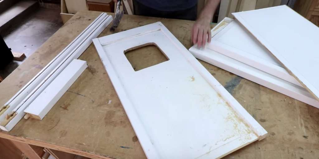 Transforming Bifold Closet Doors Into A Corner Cabinet Woodworking