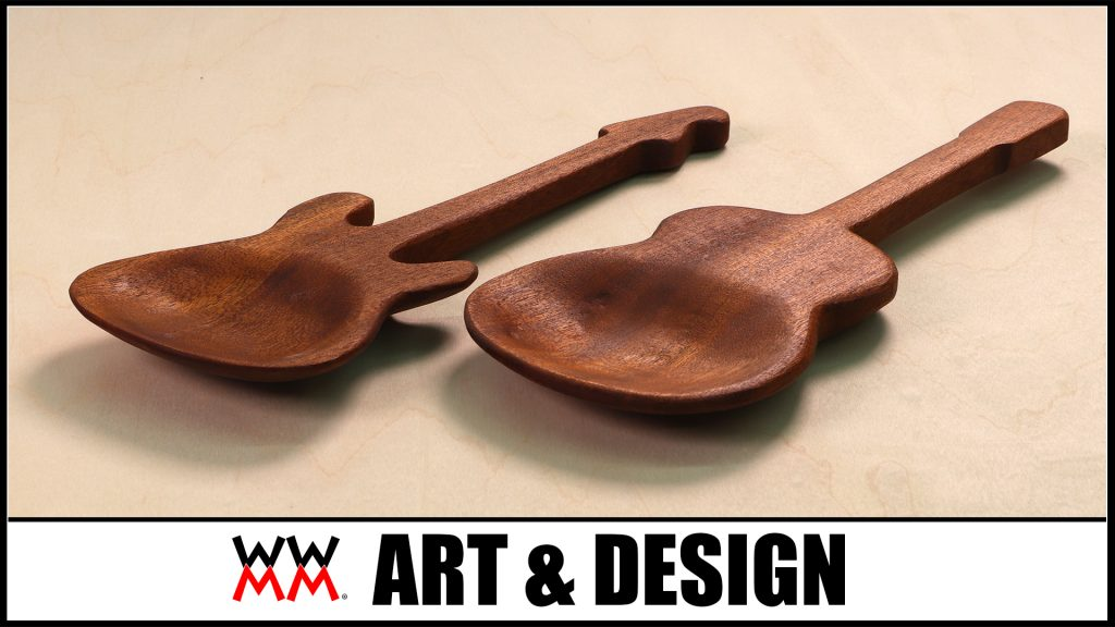 Wooden Guitar Spoons