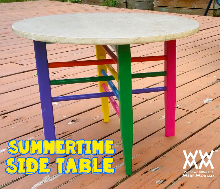 Colorful Patio Side Table